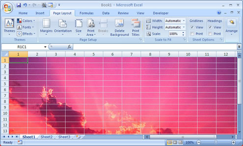 Excel With Background Image
