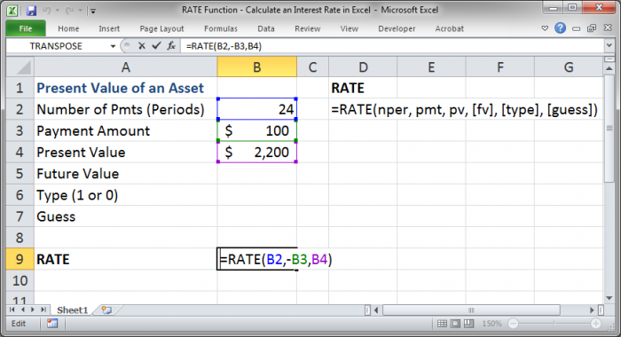 future value excel template - rate function calculate an interest rate in excel
