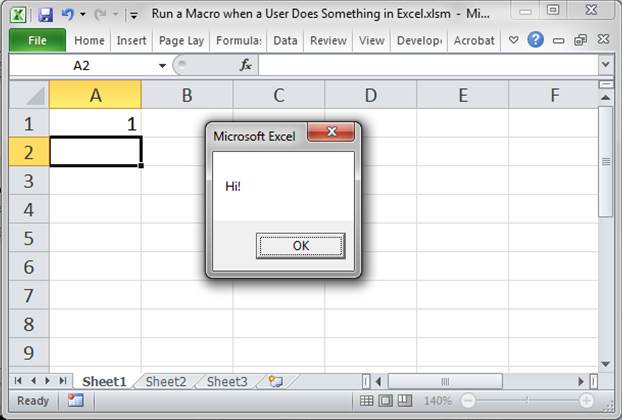 Run A Macro When User Does Something In The Worksheet Excel. This Event Seems Different. Worksheet. How To Do Worksheet Change Event At Clickcart.co