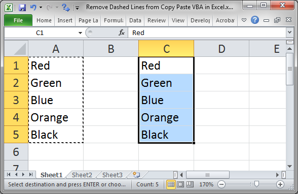 Drawing Lines With Vba In Excel : Remove dashed lines from copy paste vba in excel