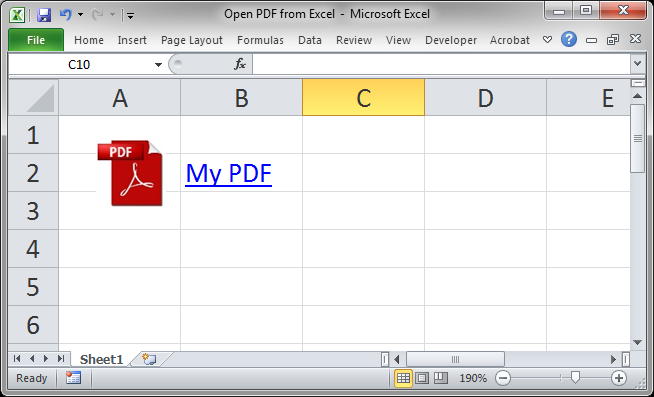 Open PDF from Excel - TeachExcel com