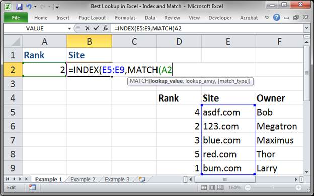 Best Lookup Formula in Excel - Index and Match - TeachExcel com