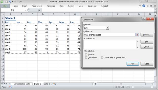 Combine Data from Multiple Worksheets in Excel TeachExcel – Consolidate Data from Multiple Worksheets