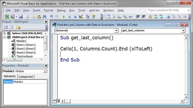Find the Last Column with Data in Excel VBA - TeachExcel com
