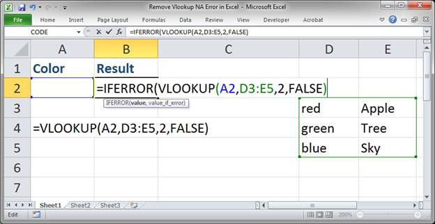 Remove Vlookup Na Error In Excel Teachexcel. For The First Argument We Use Our Original Vlookup Function. Worksheet. Application Worksheetfunction Vlookup Iferror At Clickcart.co