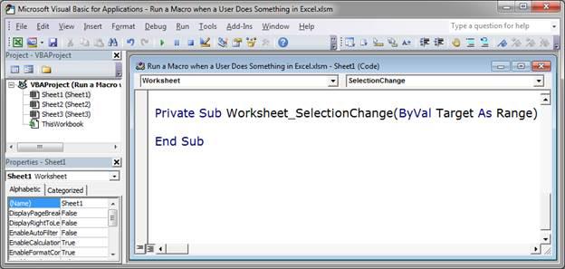 Excel Vba Worksheet Selection Change - Worksheet Kids
