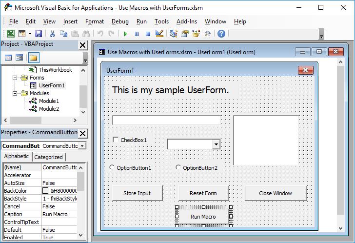 Use Macros with UserForms - TeachExcel com