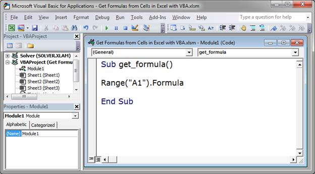 Get Formulas from Cells in Excel with VBA - TeachExcel com