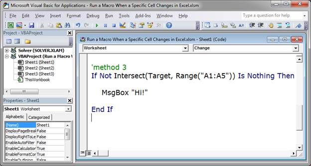 Run a Macro When a Specific Cell Changes in Excel - TeachExcel.com