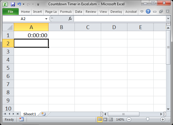 Countdown Timer in Excel - TeachExcel com