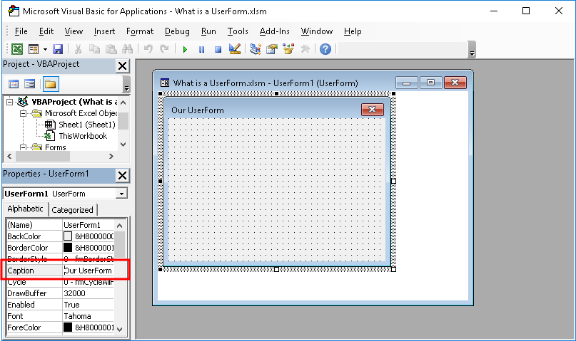Make a UserForm in Excel - TeachExcel com