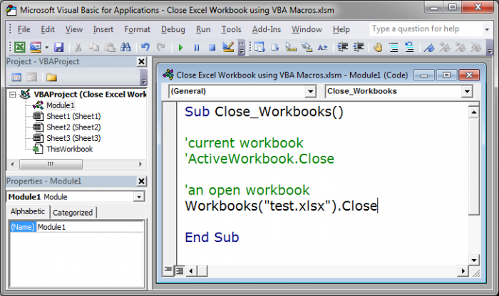 Close excel workbook using vba macros teachexcel close workbook while saving changes ibookread PDF