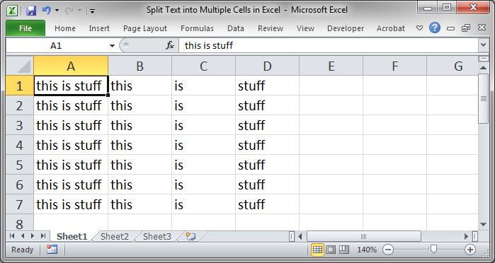Split Text Into Multiple Cells In Excel Teachexcel Com