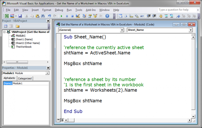 Get the name of a worksheet in macros vba in excel teachexcel 816080e169d2d432224a7bca8941dd4cg ibookread Read Online