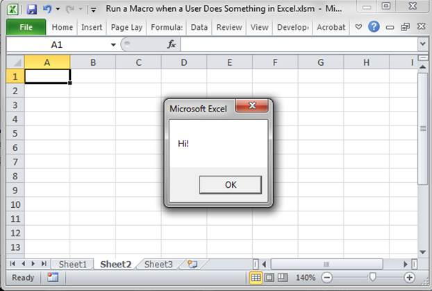 Run a Macro when a User Does Something in the Worksheet in ...