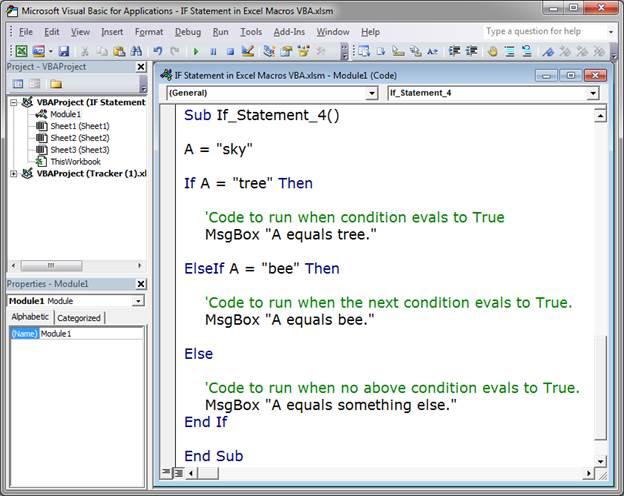 VBA IF Statement In Excel Macros