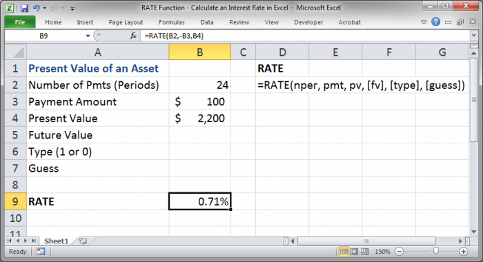 RATE Function - Calculate an Interest Rate in Excel - TeachExcel.com