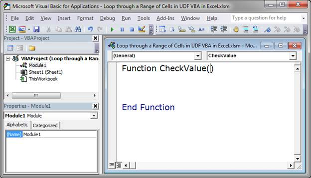 Loop through a Range of Cells in a UDF in Excel - TeachExcel com