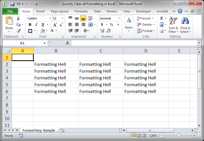 excel vba clear contents of cell range excel 2007 macro