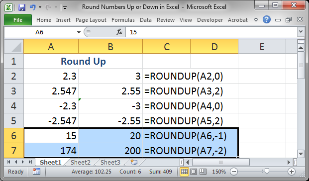 Round Numbers Up or Down in Excel - TeachExcel.com
