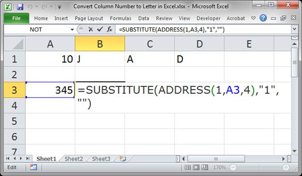 Convert Number To Letter.Convert Column Number To Letter Using A Formula In Excel