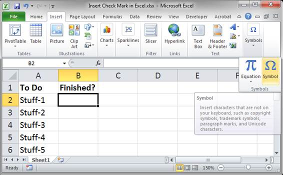 Insert Check Mark In Excel 3 Ways Incl Vba And Udf Teachexcel