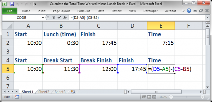 template to calculate hours worked - formula to calculate total time in excel excel