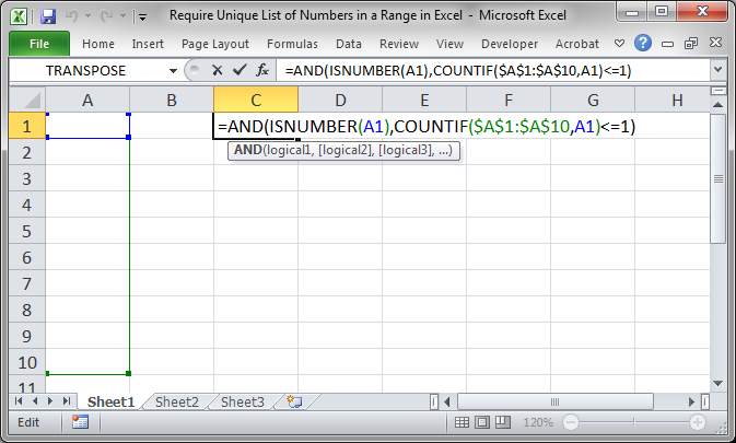 how to put conditional data validation in excel