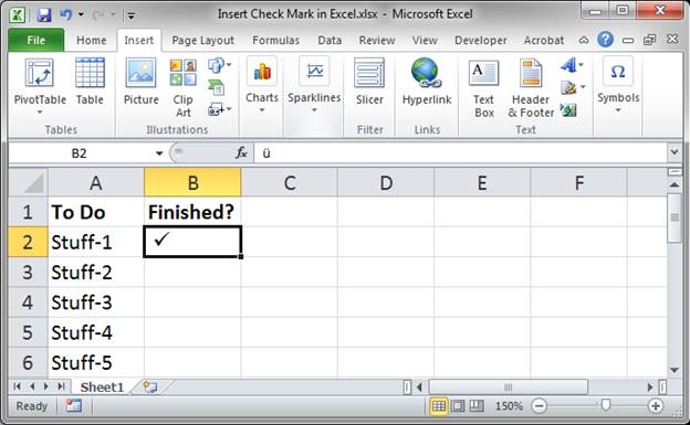 Insert Check Mark in Excel - 3 Ways - Incl  VBA and UDF