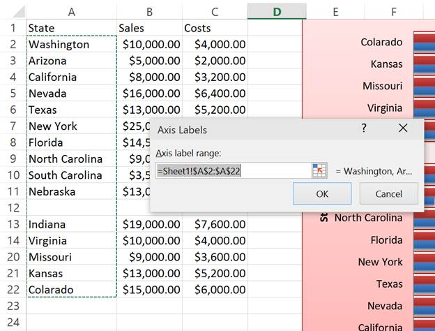 how to get rid of gaps in excel graphs