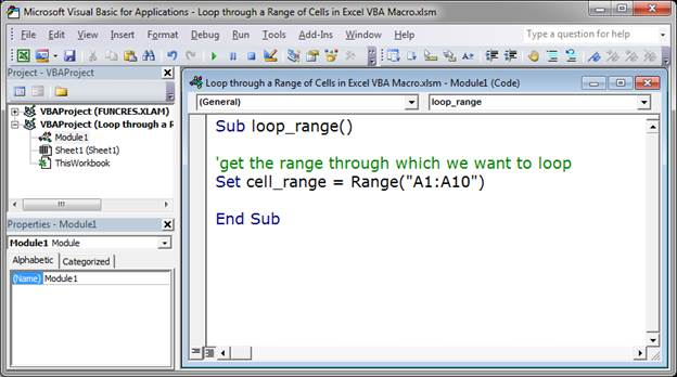 Loop through a Range of Cells in Excel VBA/Macros
