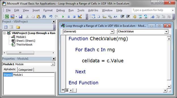 Loop through a Range of Cells in a UDF in Excel - TeachExcel com